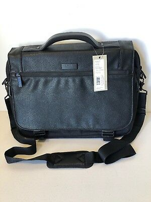 """94bad7490b1b kenneth cole reaction Hit Or Mess 15"""" RFID Computer Messenger Bag New With  Tags"""