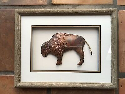 Copper Buffalo Sculpture By Cooper