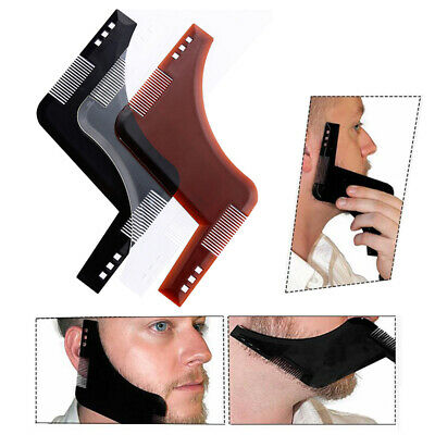 Beard Shaping Template Comb Tool Beard Beauty For Perfect Lines And Symmetry