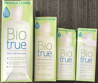 Lot Of Bausch Lomb Biotrue Multi-Purpose Solution. 18oz Total! Exp 9/19+