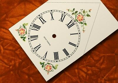 SETH THOMAS Antique Floral Steeple Clock Dial, logo, GERMAN MOVT.