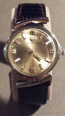 Vintage Wittnauer Art Deco Watch Rare Lugs-Mint Cond-Brown Lizard Band-Must See!