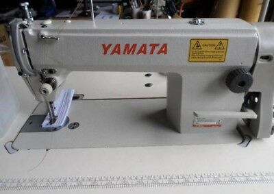 Yamata 8700 Industrial Sewing Machine Used.New Juki Table & Servo Motor DDL8700