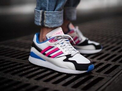 the latest 304a9 3a962 Adidas Ultra Tech Mens White Blue Black Pink Shoe Trainer Sneaker Sport 6-12