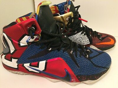 premium selection 25bc4 91708 NIKE LEBRON XII 12 SE WHAT THE LEBRON MULTI COLOR 802193-909 SZ 10.5 $270  Retail