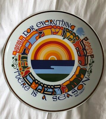 vintage 1983 Judaic Heritage Collection plate SEASONS Mordechai N. Rosenstein