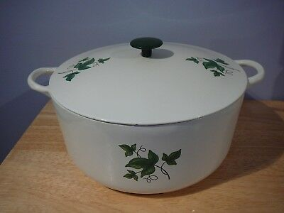 Prizer Ware Enameled Cast Iron Dutch Oven Green Ivy USA