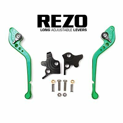 REZO Green Adjustable Long Brake and Clutch Lever Set for Triumph TT 600 00-03