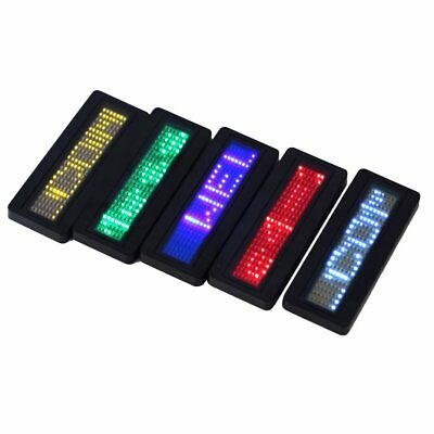 LED Programmable Scrolling Name Message Badge Tag Digital Display EnglishTW