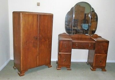 Art-Deco Dressing Table And A Small Wardrobe