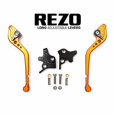 REZO Orange Long Brake and Clutch Lever Set for Triumph Speed Four 600 03-04
