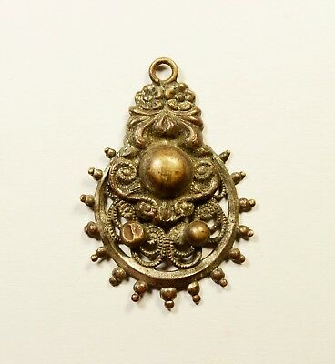 Amazing Craftsmanship - Beautiful (Post) Medieval Bronze Pendant - Wearable