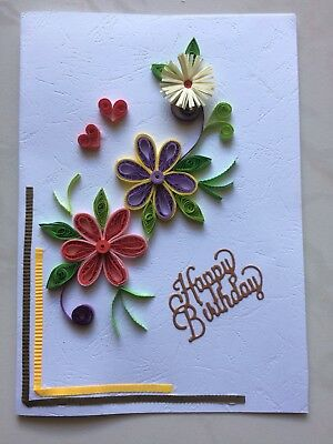 Handmade Paper Quilling Greeting Cards Happy Birthday Best Wishers