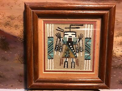Textured SAND PAINTING of Southwestern USA of Native American