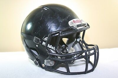 Riddell Youth SPEED Game Used Worn Football Helmet Black Small 2012 EXTRAS 211