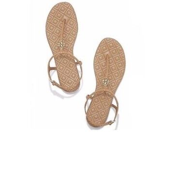 22d427899 Tory Burch Womens Size 13 Marion Quilted Leather Sandal NEW Sand  225 RARE