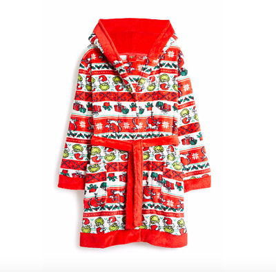 Primark Women Ladies The Grinch Christmas Robe Dressing Gown 2xs Xs