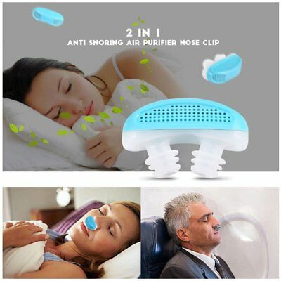2 in 1 Anti Snore Nasal Air Purifier Sleep Tool Stop Snoring Nose Clip GuardTW