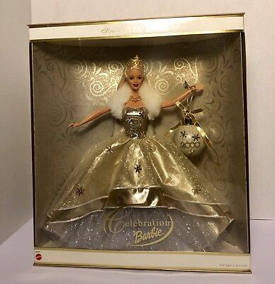 Celebration Barbie Special 2000 Edition Holiday Barbie Doll w/Christmas Ornament
