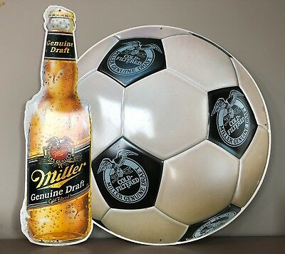 Miller Genuine Draft Cold-Filtered Soccer Sign - Lightweight Tin Sign