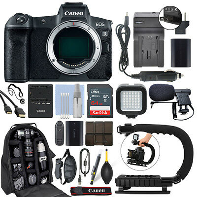 Canon EOS R Mirrorless 30.3MP Digital Camera Body + 64GB Pro Video Kit