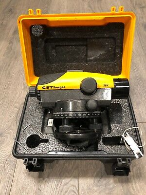 CST/berger 26X LASER LEVEL W/CASE USED- GOOD CONDITION- GOOD BUY-FAST SHIPPING!