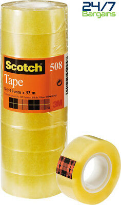 8 Rolls of Cellotape Scotch General Purpose Office Utility Tape - 19 mm x 33m