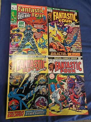 Marvel Fantastic Four Issues #113 122 123 135 Thing Galactus Silver Surfer VF+