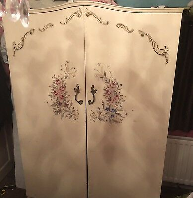 Vintage Shabby Chic French Style Double Wardrobe, Armoire