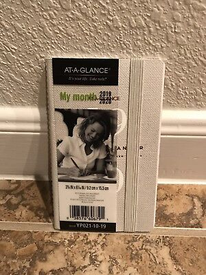 At-A-Glance Pocket 2019 2020 Fashion Monthly Planner Beige Thin Strap New Year
