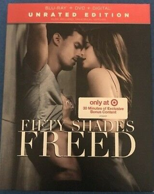 New Fifty Shades Freed Target Exclusive - Unrated Blu-ray Disc + DVD + Digital