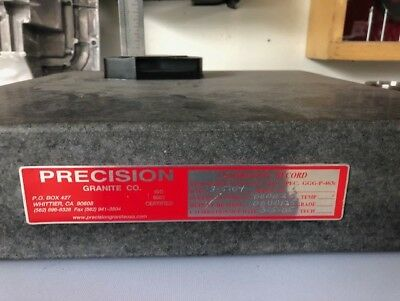 Precision Granite Surface Plate Grade AA 18x18x4