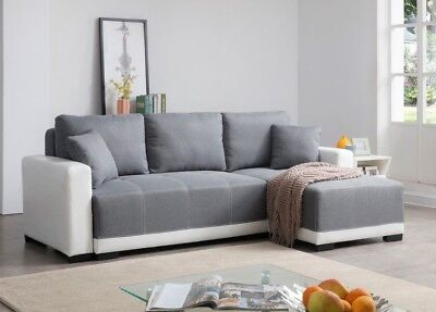 Belgrave X-Large Luxury Faux Leather & Fabric Storage Sofabed Sofa bed Settee