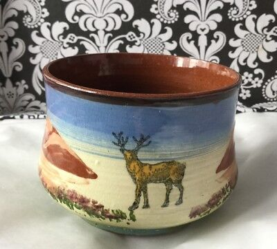 Vintage Stag Motto Ware Sugar Bowl Torquay Devon Pottery sweeten to your liking!