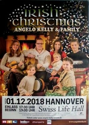 KELLY, ANGELO - FAMILY - 2018 - Plakat - Irish Christmas - Poster - Hannover
