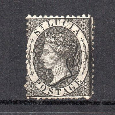 St. Lucia - 1864-76, (1d) Black (sg11) Perf 12½ Used