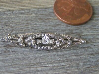 vintage? silver brooch marked sterling silver