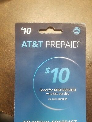 AT&T Prepaid Card $10 Refill Card Top-Up Air Time - Fast Email Delivery