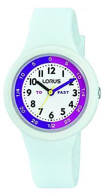 Lorus White Kids Soft Silicone Strap Watch RRX95EX9 RRP £24.99 Our Price £19.95