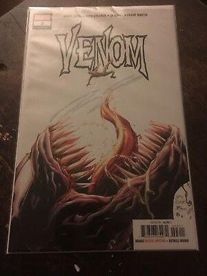 VENOM #3 1st APPEARANCE OF KNULL  SYMBIOTE GOD SIGNED DONNY CATES NM 2018