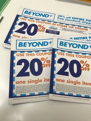 Lot Of 3 Bed Bath and Beyond 20% off - use Online or in-store expires 12/31/18