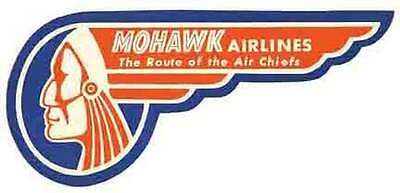 Mohawk Airlines     Vintage-Looking  Sticker/Decal/Luggage Label