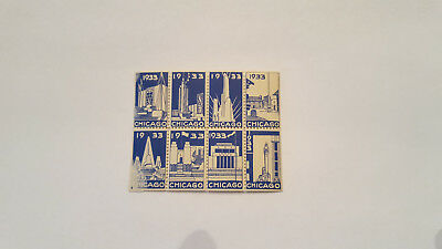 1933 Chicago Worlds Fair Poster Stamps