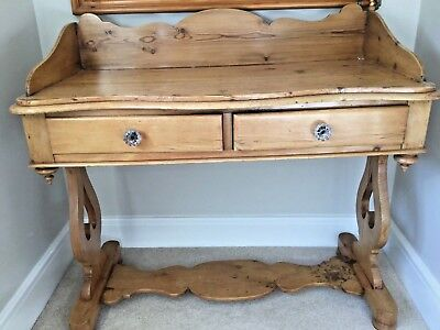 Antique pine wash stand/dressing table