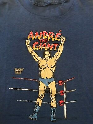 Vintage WWF Andre the Giant T Shirt Youth Size WWE 1985 Titan Sports