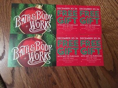 Bath And & Body Works Coupon Christmas Holiday Lot Of  4