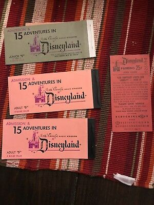 Old Disney Ticket Stubs And Parking Pass