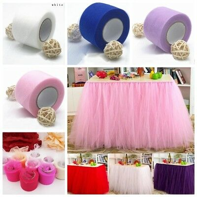25Yard Tutu Tulle Roll Spool Netting Craft Fabric Room Wedding Party Decor DIY