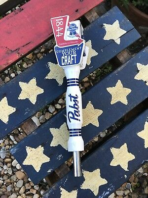 Pabst Blue Ribbon PBR Beer Wooden Tap Handle Man Cave Collectible