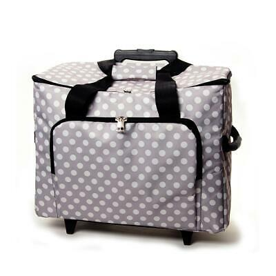 Sewing Machine Trolley Bag - Grey Spot - HobbyGift - Storage Telescopic Handle